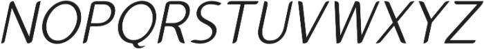 Gumela Light Italic otf (300) Font UPPERCASE
