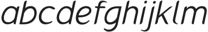 Gumela Light Italic otf (300) Font LOWERCASE