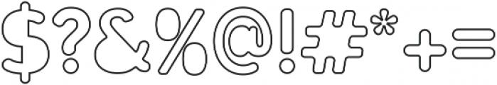 Gunnar Cutout-Outline ttf (400) Font OTHER CHARS