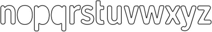 Gunnar Cutout-Outline ttf (400) Font LOWERCASE