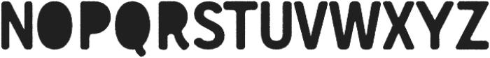Gunnar Cutout-Rough ttf (400) Font UPPERCASE
