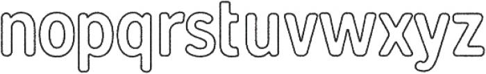 Gunnar Outline-Rough ttf (400) Font LOWERCASE