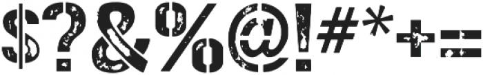 Gunplay Damage otf (400) Font OTHER CHARS