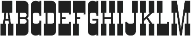 Gunslinger Regular ttf (400) Font UPPERCASE