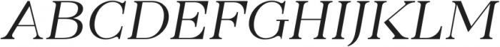 Gunterhaus Transitional Italic otf (400) Font UPPERCASE
