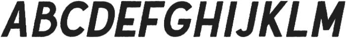 Gutenberg Clean Italic otf (400) Font UPPERCASE