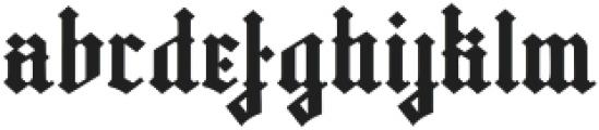 Gutenburg ttf (400) Font LOWERCASE