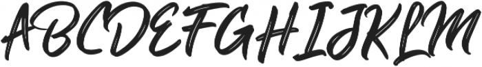 Guttenbay Regular otf (400) Font UPPERCASE