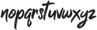 Guttenbay Regular otf (400) Font LOWERCASE