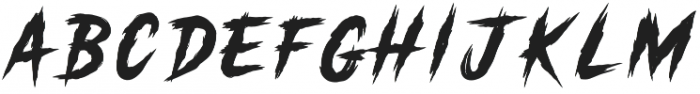 Gutter Punk Regular otf (400) Font UPPERCASE