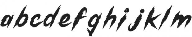Gutter Punk Regular otf (400) Font LOWERCASE