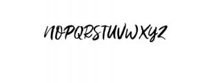 Gustolle.otf Font UPPERCASE
