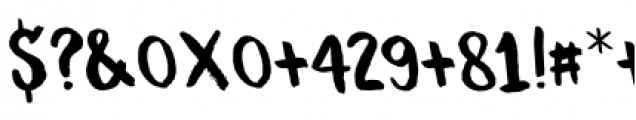 Guerrilla Handshake Regular Font OTHER CHARS