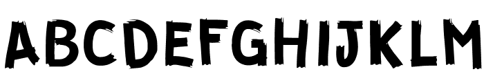 GUERRILLA Normal Font UPPERCASE