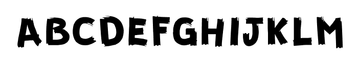 GUERRILLA Normal Font LOWERCASE
