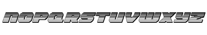 Guardian Chrome Italic Font UPPERCASE