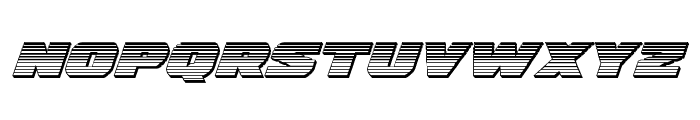Guardian Chrome Italic Font LOWERCASE