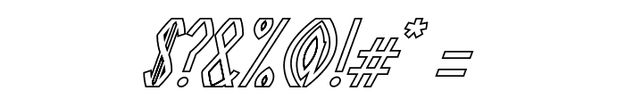 Guazhiru Italic Outlined Font OTHER CHARS