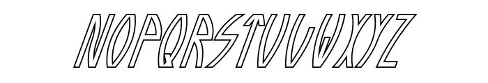 Guazhiru Italic Outlined Font UPPERCASE