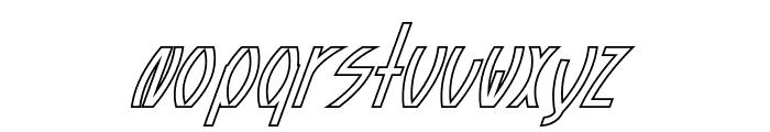 Guazhiru Italic Outlined Font LOWERCASE