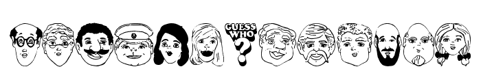Guess Who? Font UPPERCASE