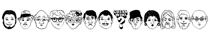 Guess Who? Font LOWERCASE
