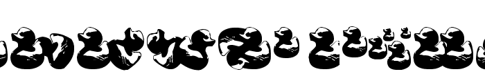 Gugli Ducky Rubber Font LOWERCASE