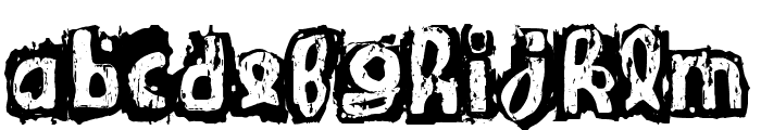 Guignol's Band Font LOWERCASE