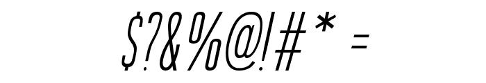 GuilderFree-LightItalic Font OTHER CHARS