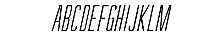 GuilderFree-LightItalic Font UPPERCASE