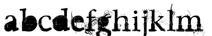 Guilty gardens Font LOWERCASE