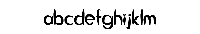 Guitar from Tree Bold Font LOWERCASE