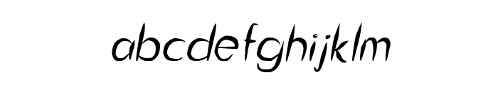 Guitar from Tree Italic Font LOWERCASE