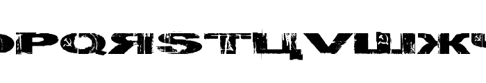 Gulag Decay Font LOWERCASE