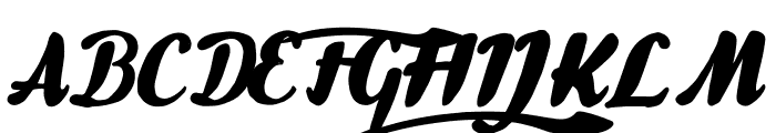 Gullias Font UPPERCASE