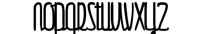 Gulliver Font LOWERCASE