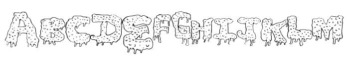 GunkyIck Font UPPERCASE