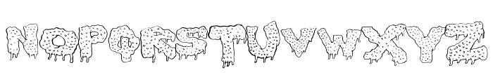 GunkyIck Font LOWERCASE