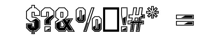 Gunmetal Regular Font OTHER CHARS