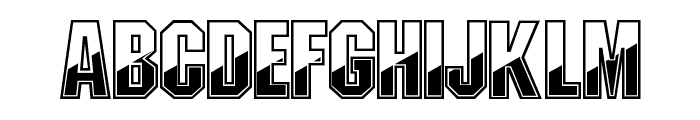 Gunmetal Regular Font UPPERCASE