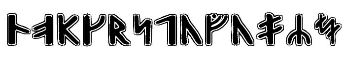 Gunnar Runic Font UPPERCASE