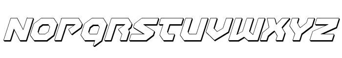 Gunner Storm 3D Italic Font UPPERCASE