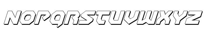 Gunner Storm 3D Italic Font LOWERCASE