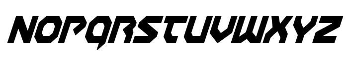 Gunner Storm Condensed Italic Font UPPERCASE