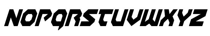 Gunner Storm Condensed Italic Font LOWERCASE