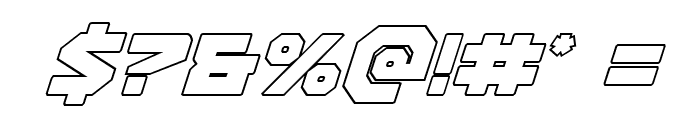 Gunner Storm Outline Italic Font OTHER CHARS
