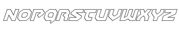 Gunner Storm Outline Italic Font UPPERCASE