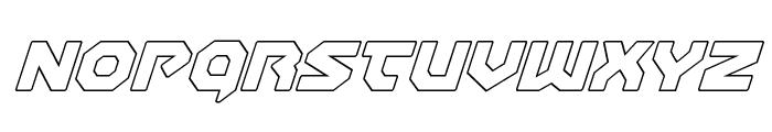 Gunner Storm Outline Italic Font LOWERCASE