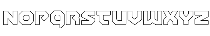 Gunner Storm Outline Font LOWERCASE