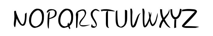 Gunny Handwriting Font UPPERCASE